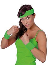 Schweißband Set neon-grün