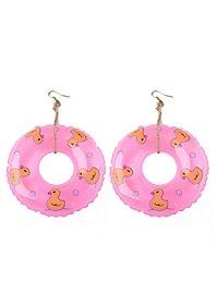 Schwimmreifen Ohrringe pink