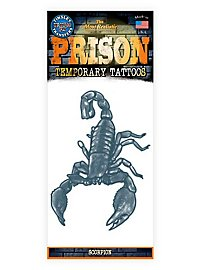 Scorpion Temporary Prison Tattoo