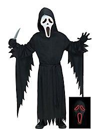 Scream Kinderkostüm mit LED Leucht-Maske
