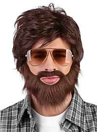 Scruffy Chic Beard and Wig Set