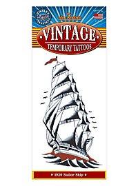 Segelschiff Vintage Klebe-Tattoo