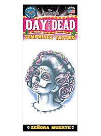 Señora Muerte Temporary Tattoo