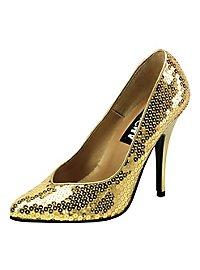 Sequin Shoes gold