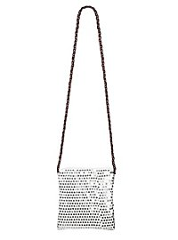 Sequined bag silver