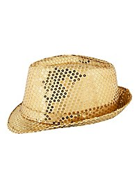 Sequined Hat gold