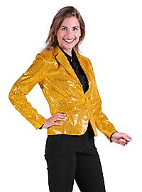 Sequined jacket for ladies gold