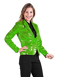 Sequined jacket for ladies green