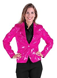 Sequined jacket for ladies pink