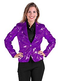Sequined jacket for ladies purple