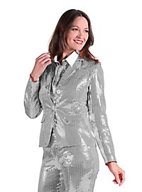 Sequined jacket for ladies silver