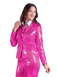 Sequined suit for ladies pink