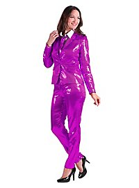 Sequined suit for ladies purple