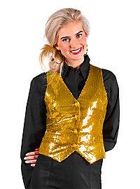 Sequins Ladies Waistcoat gold