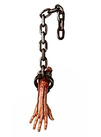 Severed Arm in Chain Halloween Decoration