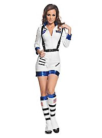 Sexy astronaut costume short white