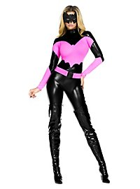 Sexy Bat Warrior Costume hot pink & black