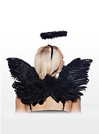 Sexy Black Angel Accessory Set