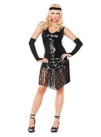 Sexy Charleston schwarz Kostüm