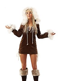Sexy Eskimo braun Kostüm