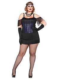 Sexy Flapper blau XXL Kostüm