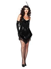 Sexy Fransenkleid Mitternacht Kostüm