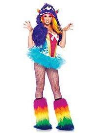 Sexy Grummel-Monster regenbogenfarben Kostüm