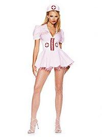 Sexy Krankenschwester rosa Kostüm