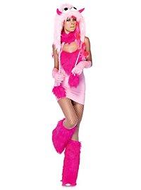 Sexy Kuschelmonster pink Kostüm