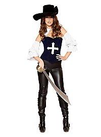 Sexy Musketier Dame Kostüm