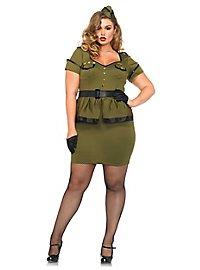 Sexy Pin-up Kommandantin XXL Kostüm