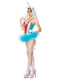 Sexy Regenbogen-Einhorn Kostüm