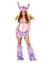 Sexy Regenbogendrache Premium Edition Kostüm