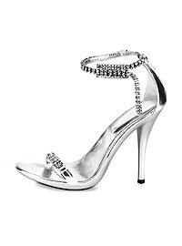 Sexy Rhinestone Sandals silver