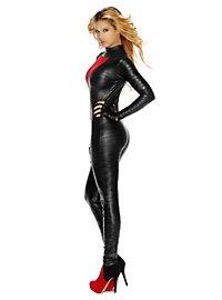Sexy Schwarze Rächerin Kostüm