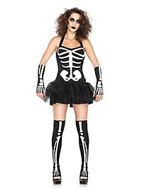 Sexy Skelett Dame Kostüm