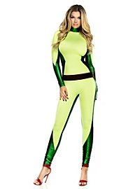 Sexy Superhero Catsuit Costume with Belt