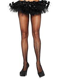 Sheer Pantyhose with Rhinestones black