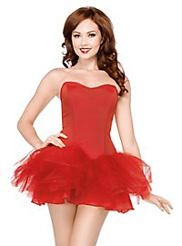 Sheer Petticoat Dress red
