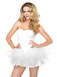 Sheer Petticoat Dress white