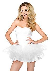 Sheer Petticoat Dress white