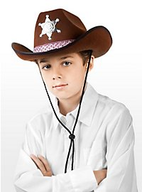 Sheriff Hat brown for Kids