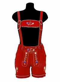 Short Lederhosen Ladies red