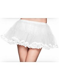 Short Petticoat white satin trim