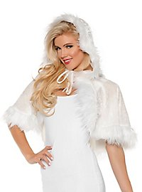 Shoulder cape with hood white
