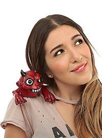 Shoulder terror devil figure