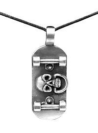 Skateboard Skull Necklace
