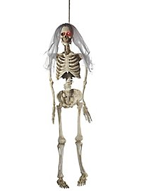 Skeleton bride hanging decoration with light effect