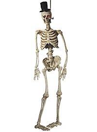 Skeleton bridegroom hanging decoration with light effect