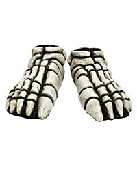 Skeleton Feet white made of latex